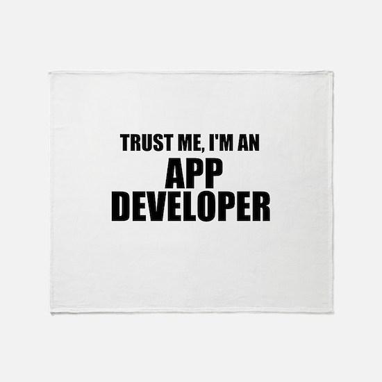 Trust Me, I'm An App Developer Throw Blanket