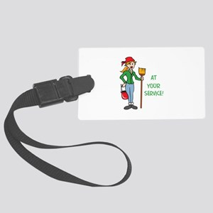 AT YOUR SERVICE Luggage Tag