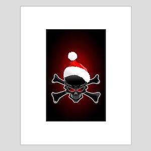 Christmas Santa Black Skull Posters
