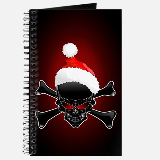 Christmas Santa Black Skull Journal