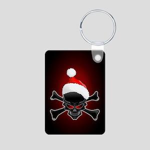 Christmas Santa Black Skull Keychains