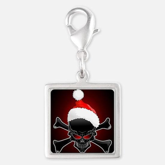 Christmas Santa Black Skull Charms