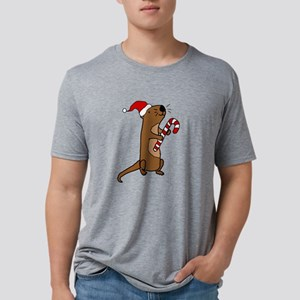 Funny Sea Otter Christmas Art T-Shirt