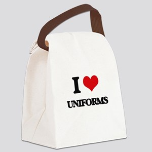 I love Uniforms Canvas Lunch Bag