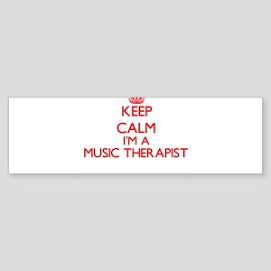 Keep calm I'm a Music Therapist Bumper Sticker