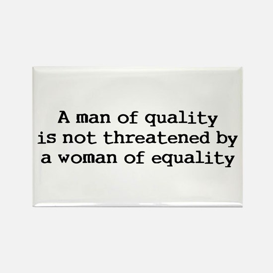 A man of quality Rectangle Magnet (10 pack)
