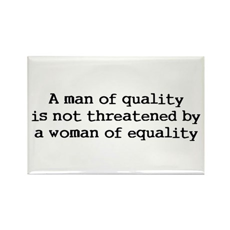A man of quality Rectangle Magnet (100 pack)