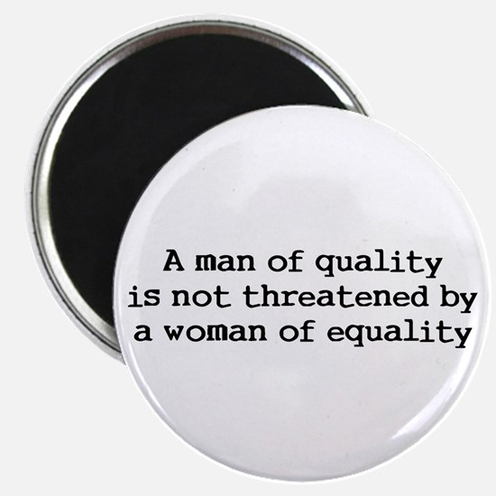 """A man of quality 2.25"""" Magnet (10 pack)"""