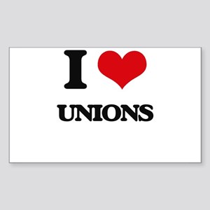 I love Unions Sticker