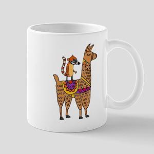 Coati Mundi on Llama Cartoon Mugs