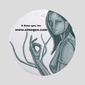 Sime Girl Round Ornament by Kip Grimes