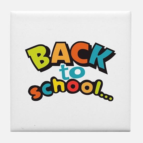 BACK TO SCHOOL Tile Coaster