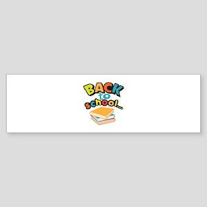 SCHOOL BOOKS Bumper Sticker