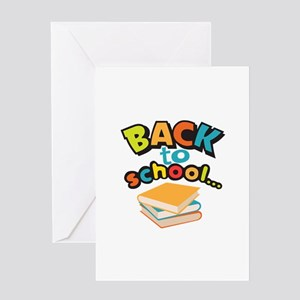 SCHOOL BOOKS Greeting Cards
