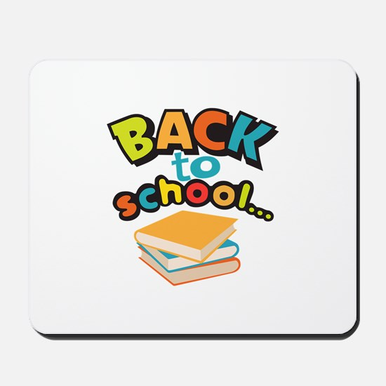 SCHOOL BOOKS Mousepad