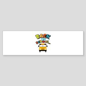 BACK TO SCHOOL BUS Bumper Sticker