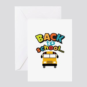 BACK TO SCHOOL BUS Greeting Cards