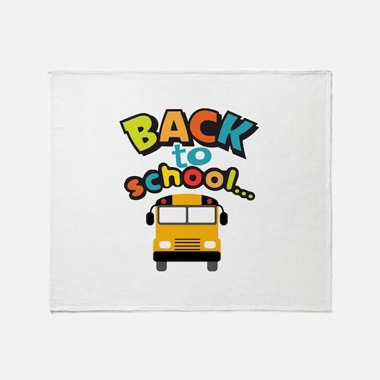 BACK TO SCHOOL BUS Throw Blanket