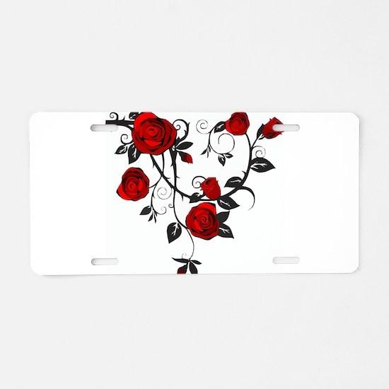 Rose Aluminum License Plate
