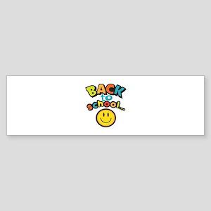 SCHOOL SMILEY FACE Bumper Sticker
