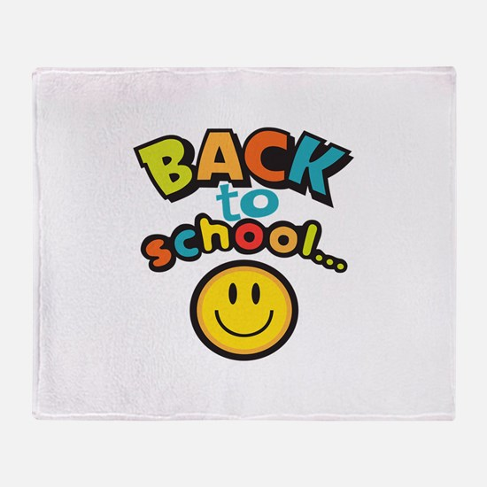 SCHOOL SMILEY FACE Throw Blanket