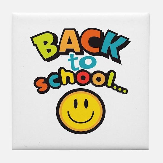 SCHOOL SMILEY FACE Tile Coaster