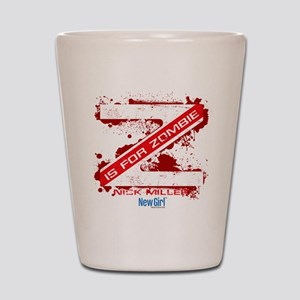 New Girl Zombie Shot Glass
