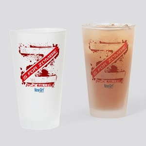 New Girl Zombie Drinking Glass