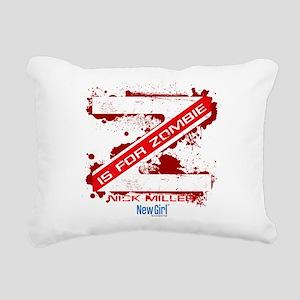 New Girl Zombie Rectangular Canvas Pillow