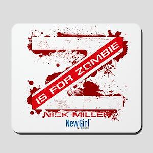 New Girl Zombie Mousepad