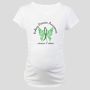 Kidney Disease Butterfly 6.1 Maternity T-Shirt