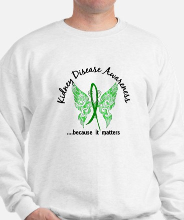 Kidney Disease Butterfly 6.1 Sweatshirt