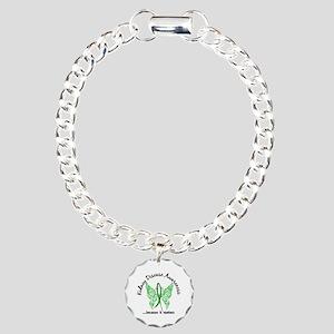 Kidney Disease Butterfly Charm Bracelet, One Charm