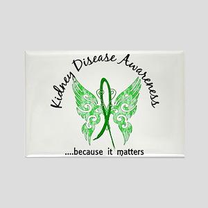 Kidney Disease Butterfly 6.1 Rectangle Magnet