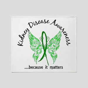 Kidney Disease Butterfly 6.1 Throw Blanket