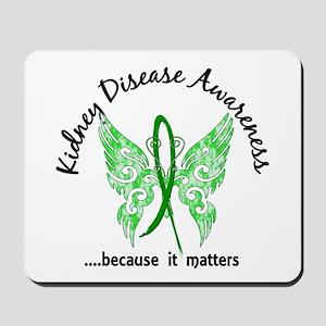 Kidney Disease Butterfly 6.1 Mousepad
