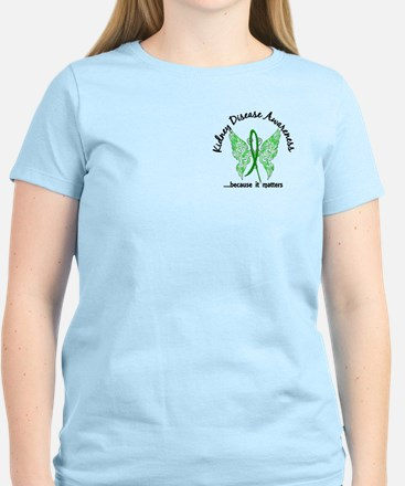 Kidney Disease Butterfly 6.1 Women's Light T-Shirt