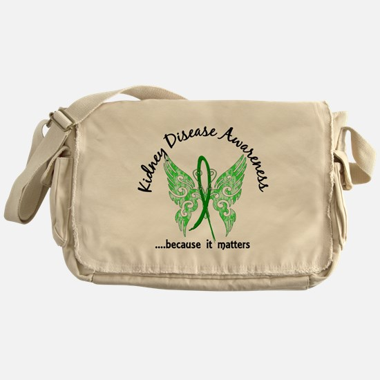 Kidney Disease Butterfly 6.1 Messenger Bag