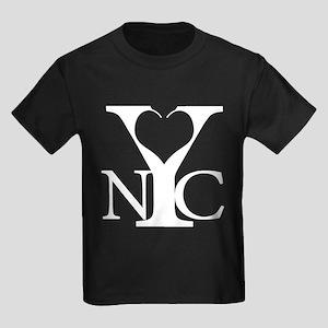Love New York white Kids Dark T-Shirt
