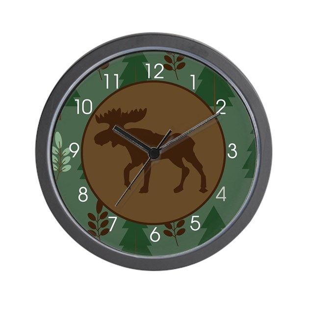 large rustic wall clock rustic moose wall clock green brown wall clock by artbyjessie 11404