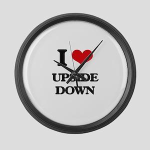 I love Upside Down Large Wall Clock