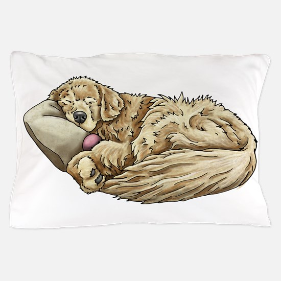 Sleeping Golden Retriever Pillow Case