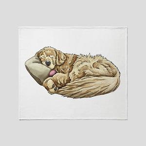 Sleeping Golden Retriever Throw Blanket