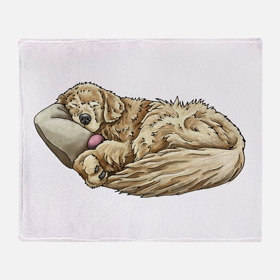 Sleeping Golden Retriever Throw Blanket
