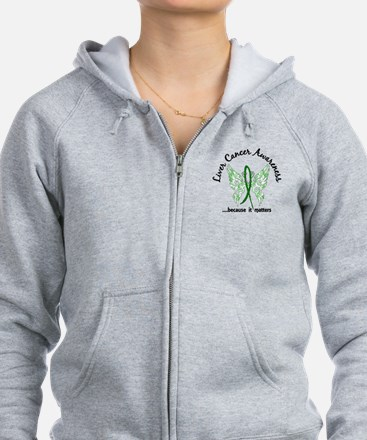 Liver Cancer Butterfly 6.1 Zipped Hoody