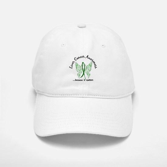 Liver Cancer Butterfly 6.1 Baseball Baseball Cap