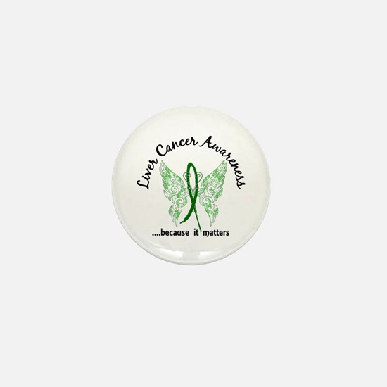 Liver Cancer Butterfly 6.1 Mini Button