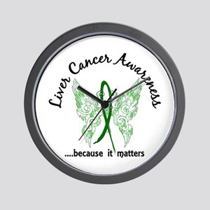 Liver Cancer Butterfly 6.1 Wall Clock