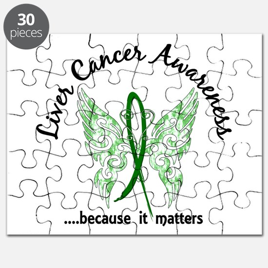 Liver Cancer Butterfly 6.1 Puzzle