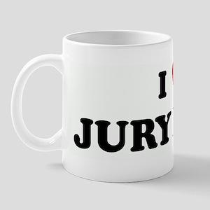 I Love JURY DUTY Mug